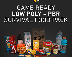 Survival Food Pack of 18 Items 3D asset