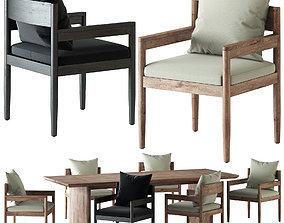 HARBOUR ROZELLE DINING CHAIR AND TABLE 3D