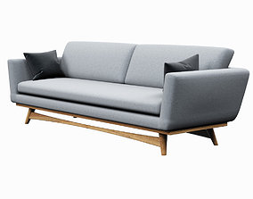 Sofa red edition Scandinavian design 3D model