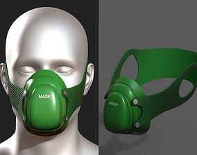 VR / AR ready Gas mask respirator scifi futuristic 3d