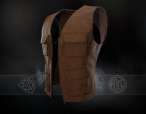 3D model VR / AR ready Brown Vest