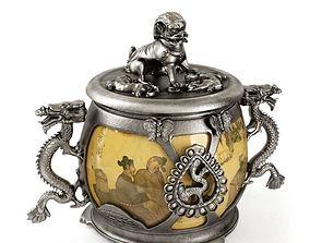 3D Oriental Decorative Bowl