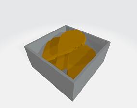 3D asset Low-Poly Cartoon Chicken Nugget Box
