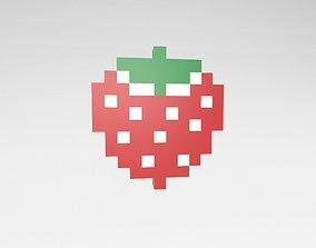 3D model Pixel Strawberries v1 002