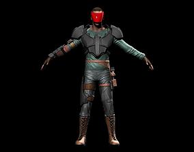 3D asset Space Mercenary