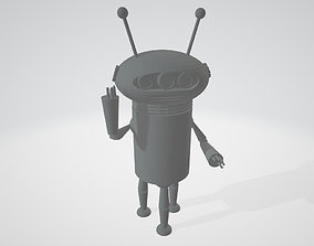 3D print model Mikrobi - Hungarian Cartoon Robot