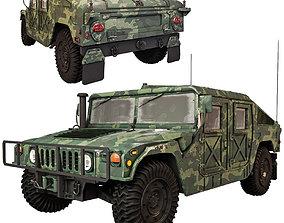 3D model war Humvee Military M1151