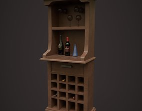 3D model game-ready Wine Rack