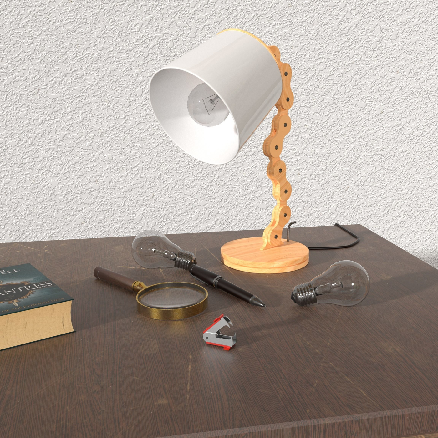 Wooden Desk Lamp II