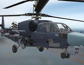 Kamov Ka-52K Katran marine attack helicopter 3D asset