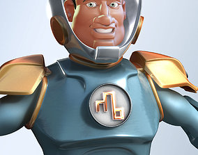 Cartoon Spaceman 3D model
