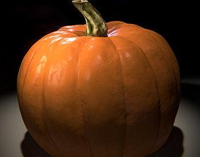 3D Simple Realistic Pumpkin