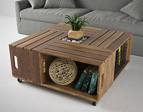 3D WOODEN COFFE TABLE