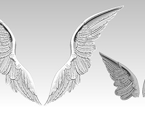 3D printable model Relief Wings pair Detailed