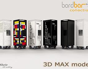3D asset BORDBAR Trolleys