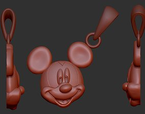 3D print model mickey mouse pendent