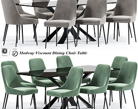 3D Modway Viscount Dining Chair Table