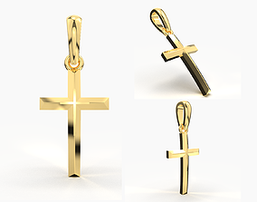 cross-pendant 3D print model JESUS CROSS GOLD PENDANT