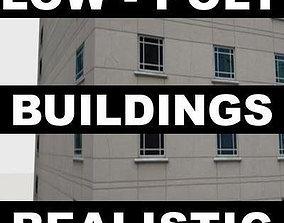 LOW-POLY CITY BUILDINGS 3D asset