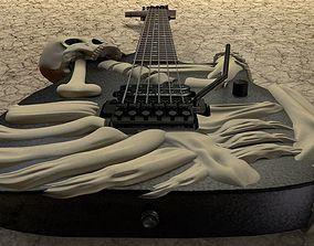 3D George Lynch ESP Skull n bones