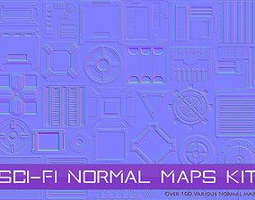 Sci-Fi Normal Maps Kit 3D