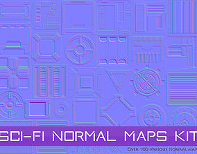 Sci-Fi Normal Maps Kit 3D