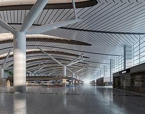3D model Airport Terminal Lobby 002