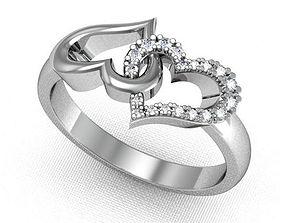 3D printable model Loving Hearts Ring