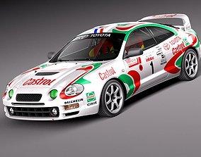 Toyota Celica GT-Four Castrol Rally 3D Model
