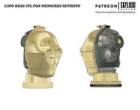 3D print model C3PO Memories Retrieve Head Full size STL