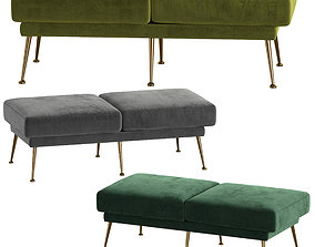 BENCH COLLECTION TAHOE BY EICHHOLTZ 3D