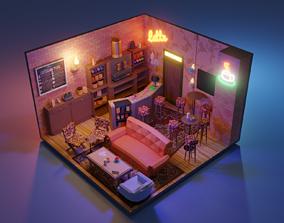 Friends Central Perk 3D asset