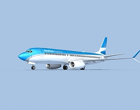 3D model rigged Boeing 737-8 Max Aerolineas Argentinas