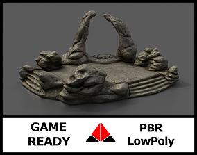 Shrine 3D model low-poly