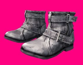 3D model low-poly Leather Boots