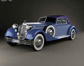 german Horch 853 A Sport Cabriolet 1935 3D model