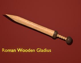 Roman Wooden Gladius 3D model