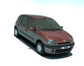 3D asset Renault Clio 1998 5 doors