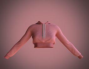 3D model crop hoodie