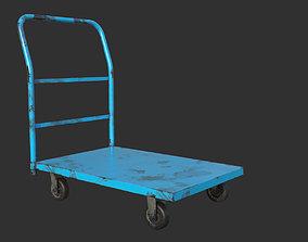 3D model game-ready Industrial Trolley PBR Game Ready