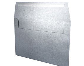 3D asset Envelope -Silver Metal