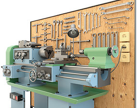 3D Turning machine and garage tools - Collection