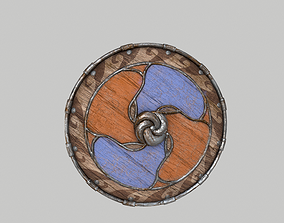 3D model Viking Shield 001 - PBR Game-ready asset