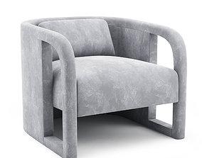 Milo Baughman - Curved Velvet Club Chairs 3D