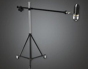 3D model Standing Mic - PBR Game Ready