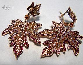 Maple leaf earrings 3D printable model