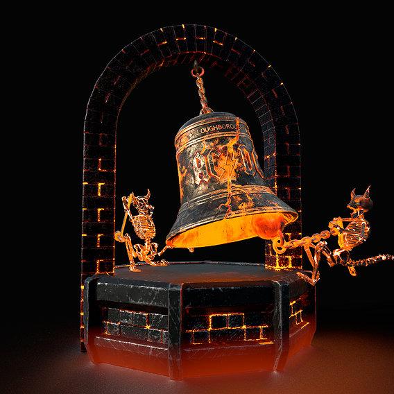 Hells Bells AC DC whith base 3D print model