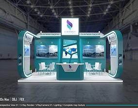 exhibition 3d model 6x6m