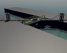 Bridge with roundabout 3D model