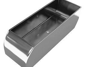 3D model Modern Metal Bath Tub